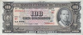 Bolivien / Bolivia P.147 100 Bolivianos L. 1945 (1)