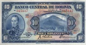Bolivien / Bolivia P.121 10 Bolivianos 1928 (3)