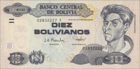 Bolivien / Bolivia P.224 10 Bolivianos (2001) Serie F (1)