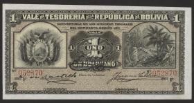 Bolivien / Bolivia P.092 1 Boliviano 1902 (1)