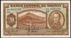 Bolivien / Bolivia P.131 20 Bolivianos L. 1928 (2)