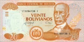 Bolivien / Bolivia P.239A 20 Bolivianos (2014) Serie I (1)