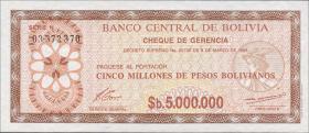 Bolivien / Bolivia P.193a 5. Mio. Pesos Bolivianos 1985 (1)
