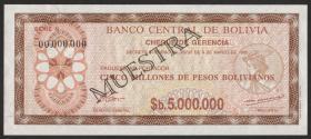 Bolivien / Bolivia P.193s 5. Mio. Pesos Bolivianos 1985 Spec.