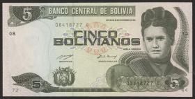 Bolivien / Bolivia P.209 5 Bolivianos (1993) (1) Serie C