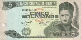 Bolivien / Bolivia P.219 20 Bolivianos (1995) (1)