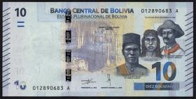 Bolivien / Bolivia P.248 10 Bolivianos (2018) (1)