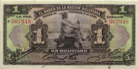 Bolivien / Bolivia P.102b 1 Boliviano 1911 (1)