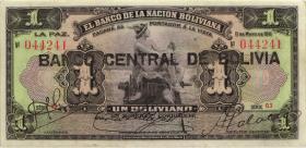Bolivien / Bolivia P.112 1 Boliviano (1929) (1)