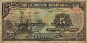 Bolivien / Bolivia P.113 5 Bolivianos (1929) (3-)