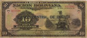 Bolivien / Bolivia P.114 10 Bolivianos (1929) (4)