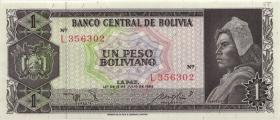 Bolivien / Bolivia P.158 1 Peso Boliviano 1962 (1)