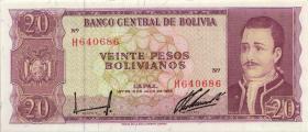 Bolivien / Bolivia P.161 20 Peso Bolivianos 1962 (1)