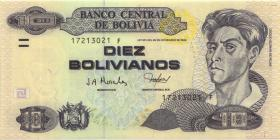 Bolivien / Bolivia P.223 5 Bolivianos (2001) Serie F (1)