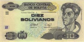 Bolivien / Bolivia P.238A 10 Bolivianos (2014) Serie I (1)