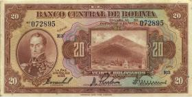 Bolivien / Bolivia P.122a 20 Boliviano L. 1928 (3)