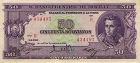 Bolivien / Bolivia P.141 50 Bolivianos L. 1945 (2)