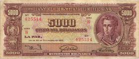 Bolivien / Bolivia P.150 5000 Bolivianos L. 1945 (3)