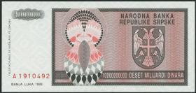 Bosnien & Herzegowina / Bosnia P.148 10.000.000.000 Dinara 1993 (1)