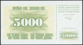 Bosnien & Herzegowina / Bosnia P.016 5000 Dinara 1993 (1)