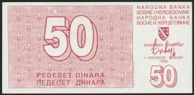 Bosnien & Herzegowina / Bosnia P.023 50 Dinara 1992 (1)