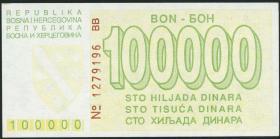 Bosnien & Herzegowina / Bosnia P.031 100.000 Dinara 1993 (1)