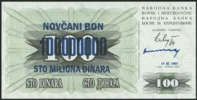 Bosnien & Herzegowina / Bosnia P.037 100.000.000 Dinara 1993 (1)