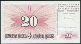 Bosnien & Herzegowina / Bosnia P.042 20 Dinara 1994 (1)