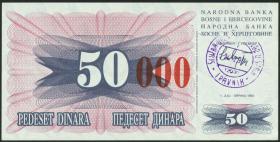 Bosnien & Herzegowina / Bosnia P.055d 50000 Dinara 1993 (1)