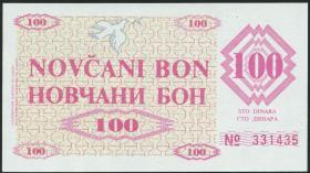 Bosnien & Herzegowina / Bosnia P.006r 100 Dinara 1992 (1)