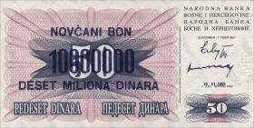 Bosnien & Herzegowina / Bosnia P.036 10.000.000 Dinara 1993 (1)