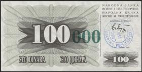 Bosnien & Herzegowina / Bosnia P.056a 100.000 Dinara 1993 (1)