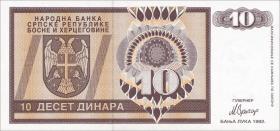 Bosnien & Herzegowina / Bosnia P.133 10 Dinara 1992 (1)