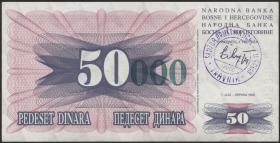 Bosnien & Herzegowina / Bosnia P.055a 50000 Dinara 1993 (1)
