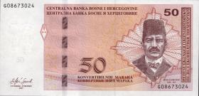 Bosnien & Herzegowina / Bosnia P.084b 50 Konver. Marka 2017 (1)