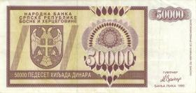 Bosnien & Herzegowina / Bosnia P.140 50.000 Dinara 1993 (3+)