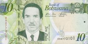 Botswana P.30a 10 Pula 2009 (1)