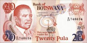Botswana P.10d 20 Pula (1982) (1)