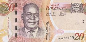 Botswana P.31a 20 Pula 2009 (1)
