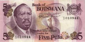 Botswana P.03 5 Pula (1976) (3+)