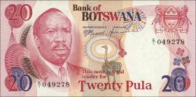 Botswana P.05a 20 Pula (1976) (1/1-)