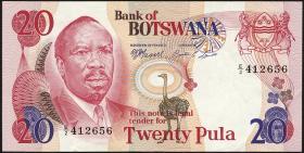 Botswana P.05b 20 Pula (1976) (2)