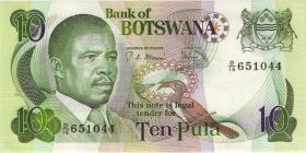 Botswana P.09b 10 Pula (1982) (1)