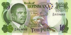 Botswana P.09c 10 Pula (1982) (1)