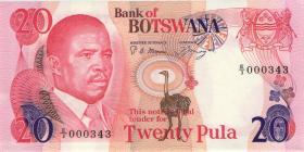 Botswana P.10a 20 Pula (1982) (1)