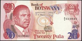 Botswana P.10b 20 Pula (1982) (1)