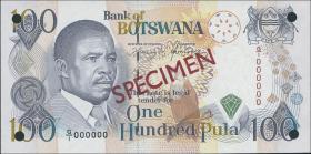 Botswana P.1sa 100 Pula (1992) Specimen (1)