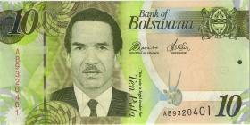 Botswana P.30b 10 Pula 2010 (1)