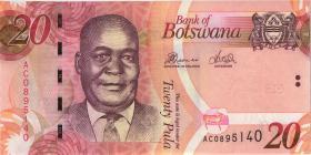 Botswana P.31c 20 Pula 2012 (1)