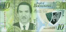 Botswana P.neu 10 Pula 2018 (1)